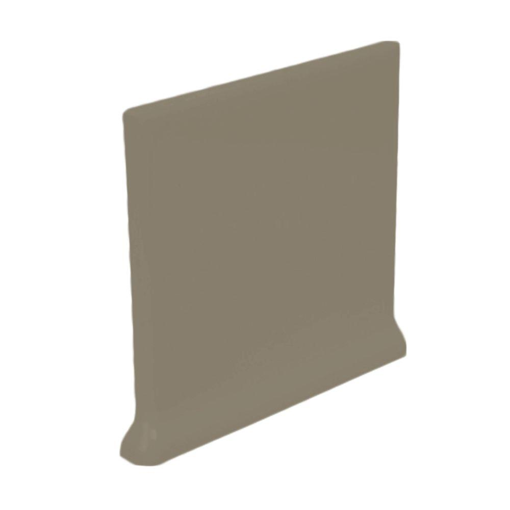 U.S. Ceramic Tile Color Collection Matte Cocoa 4-1/4 in. x 4-1/4 in. Ceramic Stackable Right Cove Base Wall Tile-DISCONTINUED
