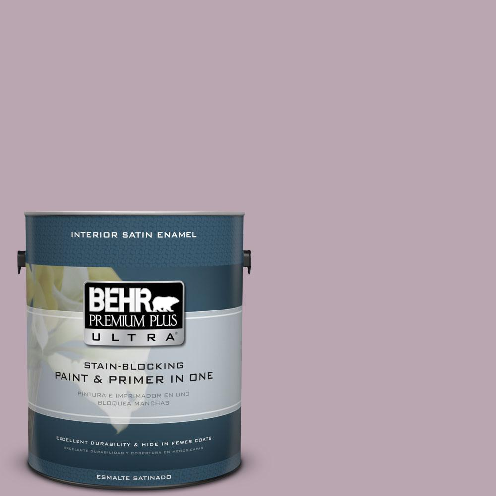 BEHR Premium Plus Ultra 1-gal. #690F-4 Midsummer Dream Satin Enamel Interior Paint