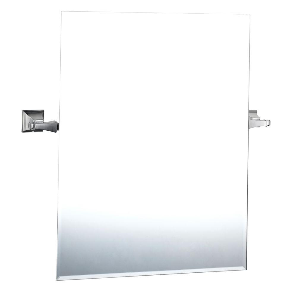 Exhibit 24-7/16 in. x 19 in. Wall Mirror in Brushed Nickel
