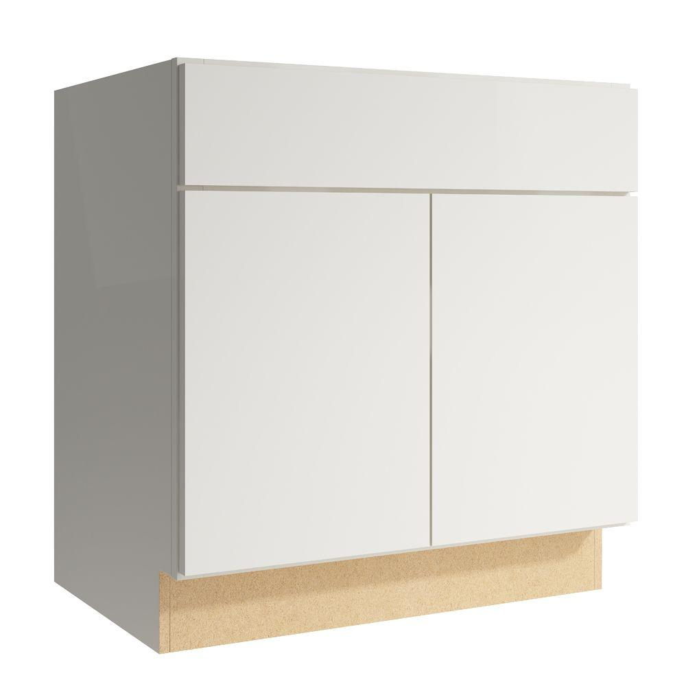 Cardell Cabinets Fiske 30 in. W x 31 in. H Vanity Cabinet Only in Lace VSB302131BUTT.AF3M7.C59M