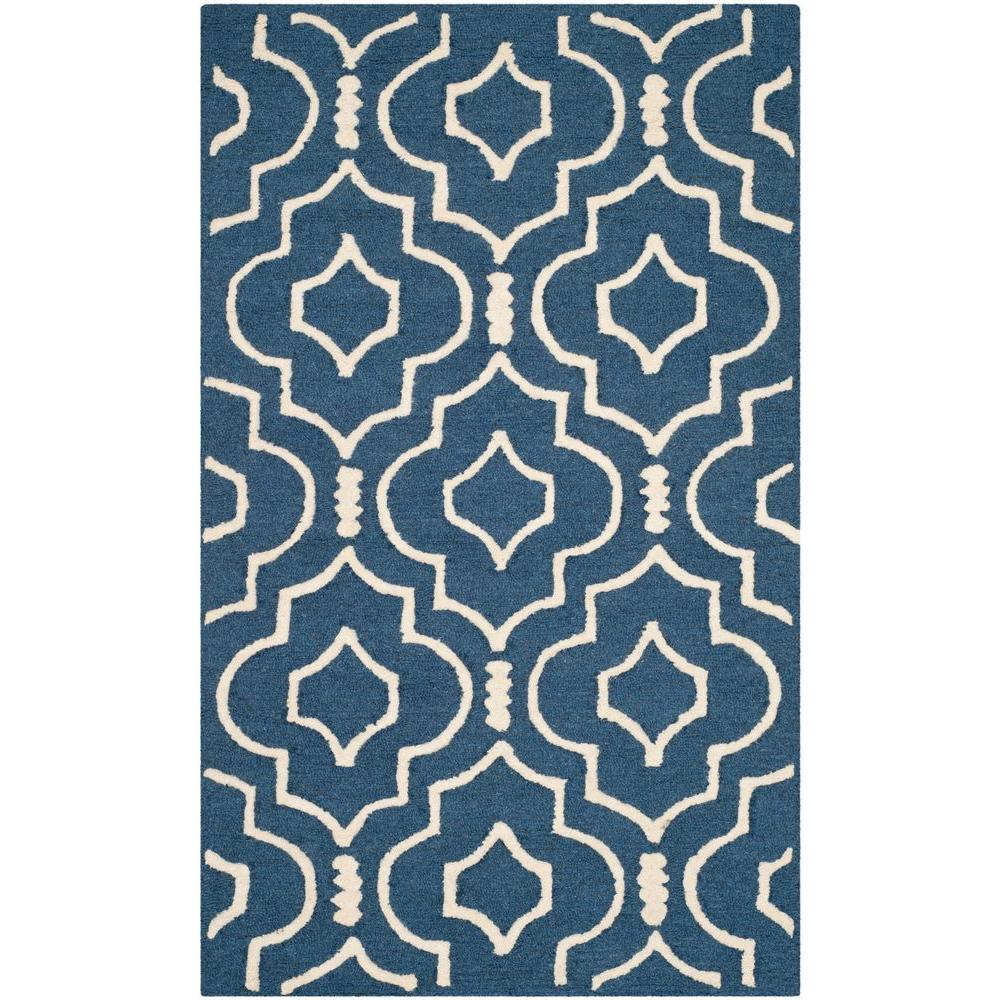 Safavieh Cambridge Navy Blue/Ivory 3 ft. x 5 ft. Area Rug-CAM141G-3