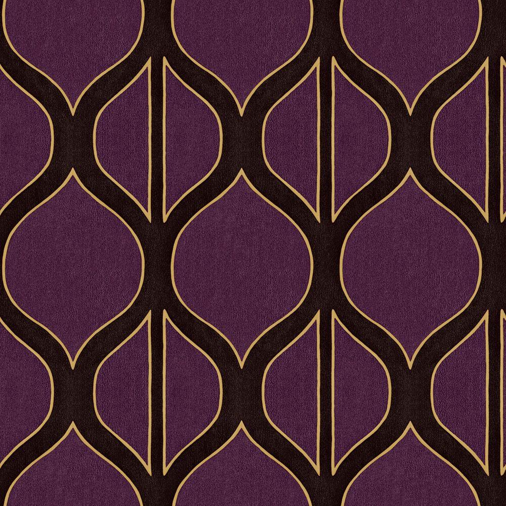 The wallpaper company 8 in x 10 in aubergine modern for Modern wallpaper samples