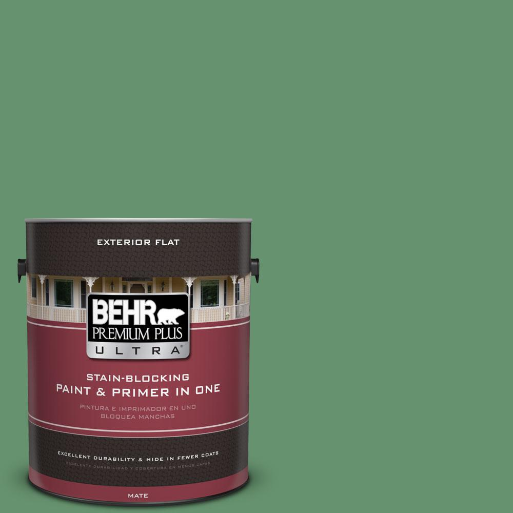 1-gal. #M410-6 Turtle Creek Flat Exterior Paint