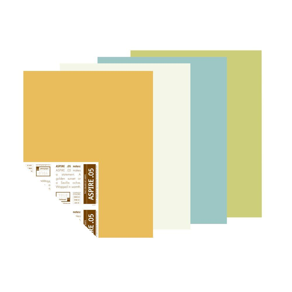 YOLO Colorhouse 12 in. x 16 in. Picnic Palette Pre-Painted Big Chip Sample (4-Pack)-DISCONTINUED