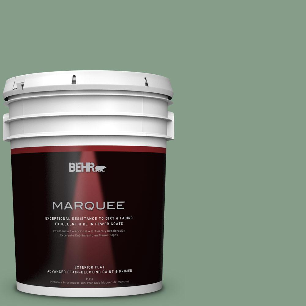 5-gal. #S410-5 Track Green Flat Exterior Paint