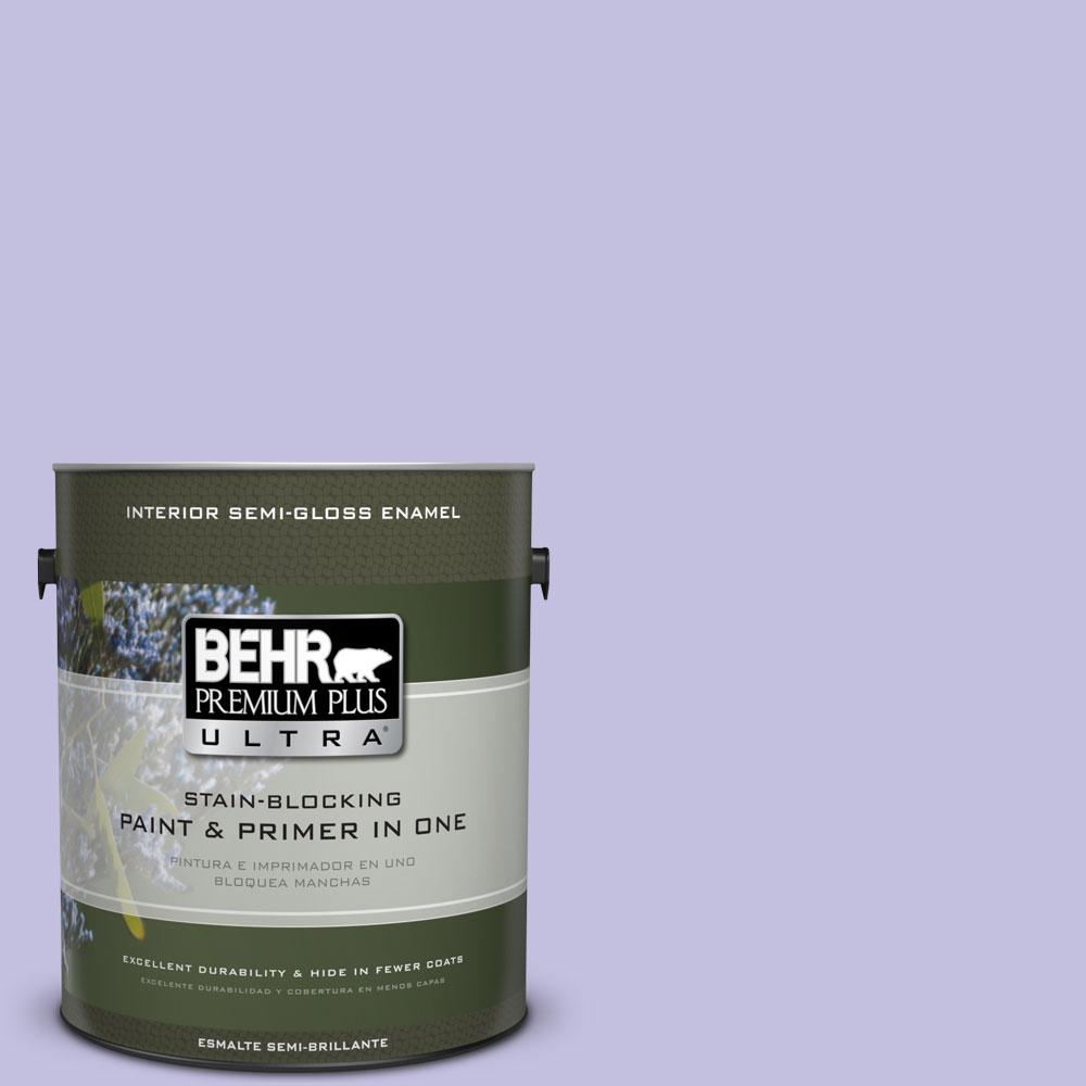 BEHR Premium Plus Ultra 1-gal. #630A-3 Weeping Wisteria Semi-Gloss Enamel Interior Paint