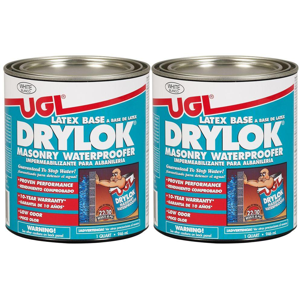 UGL 1-qt. White Latex Drylok Waterproofer (2-Pack)