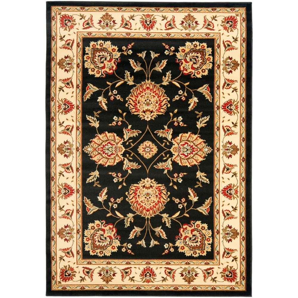 Lyndhurst Black/Ivory 4 ft. x 6 ft. Area Rug