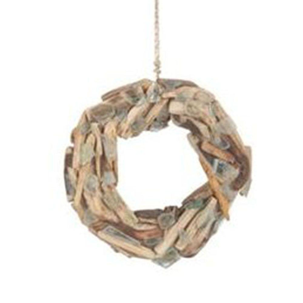 Filament Design Sundry 12.5 in. Drift Wood and Sea Glass Wreath