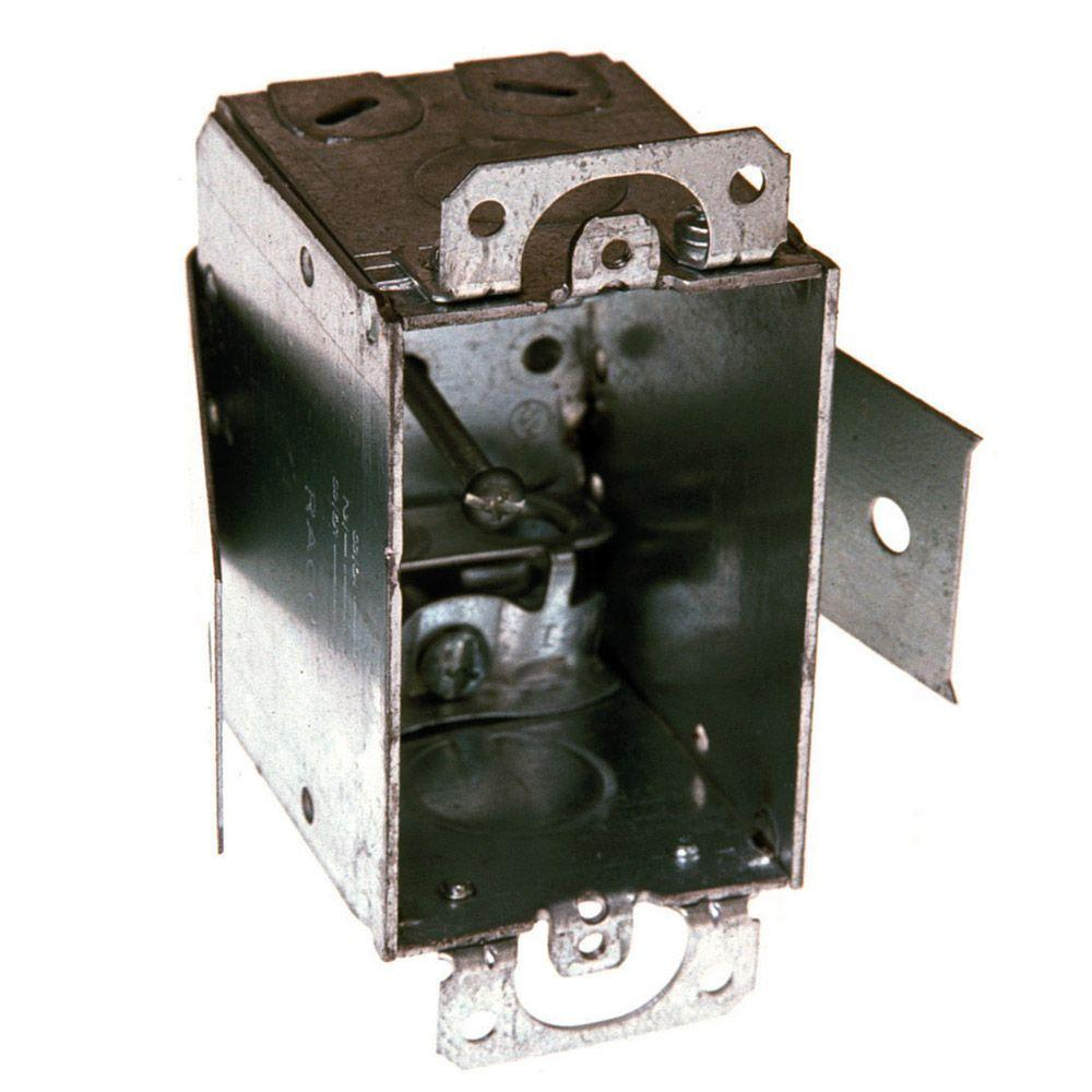 2-1/2 in. Deep Welded Switch Box with Armored Cable/Metal Clad/Flex Clamps