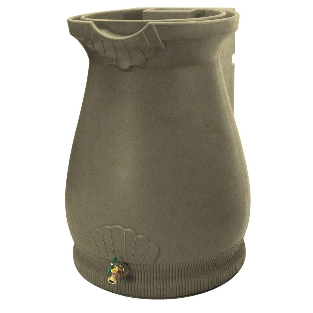 Rain Wizard 65 Gal. Sandstone Urn Rain Barrel-RWURN-SAN - The Home