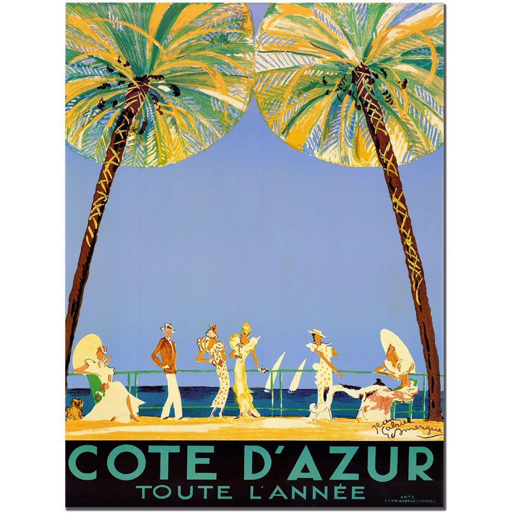 18 in. x 24 in. Cote D'Azur by Jean Dumergue Canvas