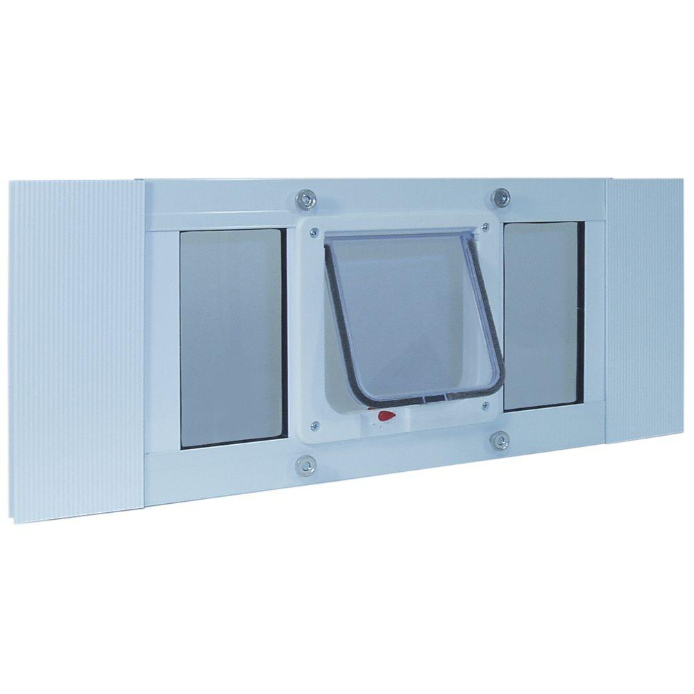 Ideal Pet 6.25 in. x 6.25 in. Small Cat Flap Frame Door for Installation into 27 in. to 32 in. Wide Sash Window