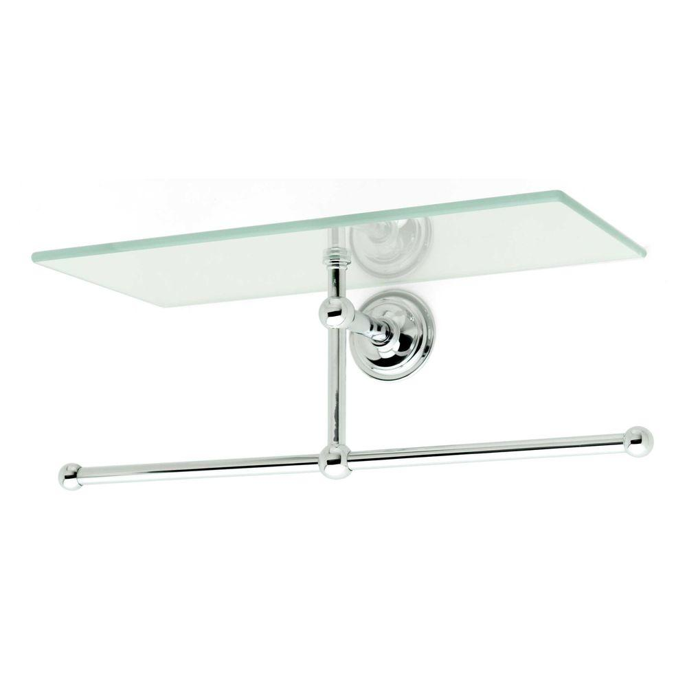 Ginger London Terrace 12 in. W Shelf with Towel Bar in Polished Chrome