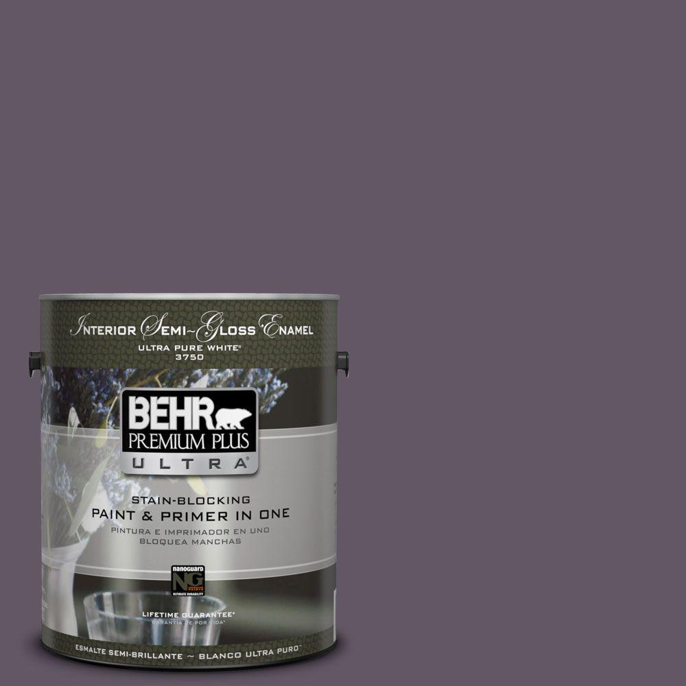 Home Decorators Collection 1-gal. #HDC-CL-03 Grand Grape Semi-Gloss Enamel Interior Paint