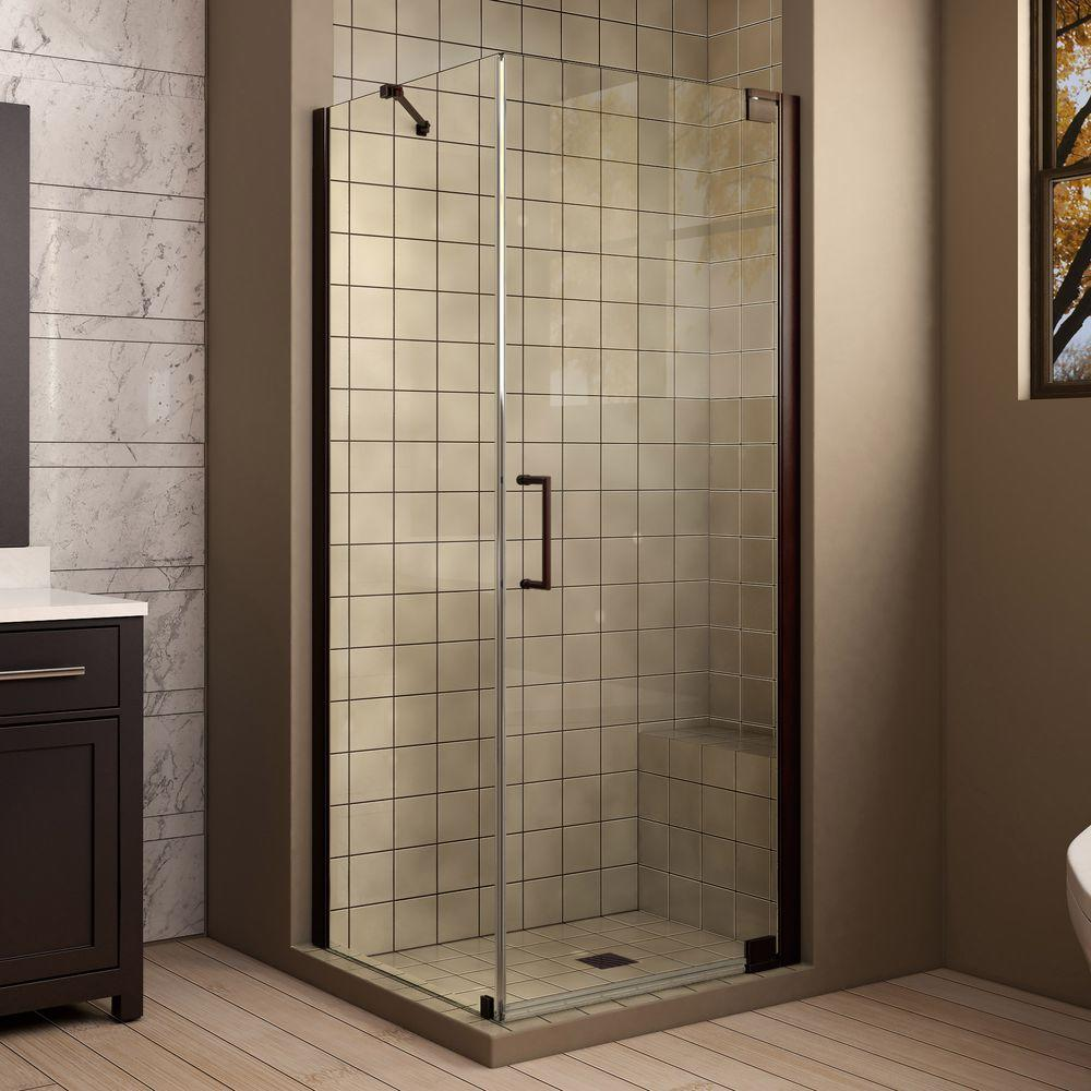 DreamLine Shower Enclosures Elegance 30 in. x 30 in. x 72 in. Pivot Shower Enclosure in Oil Rubbed Bronze SHEN-4130300-06
