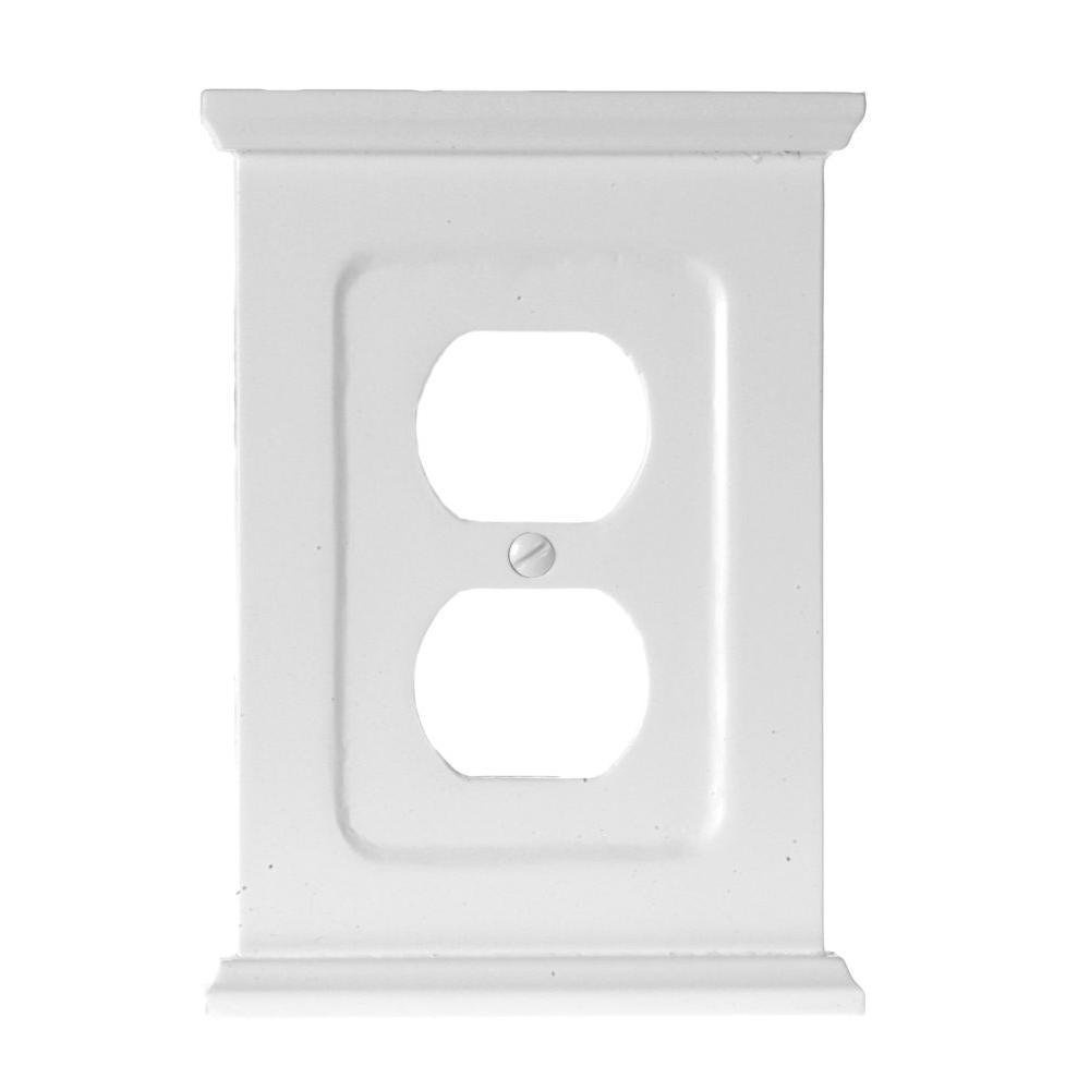 Amerelle Mantel 1 Duplex Wall Plate - White-178DW - The Home