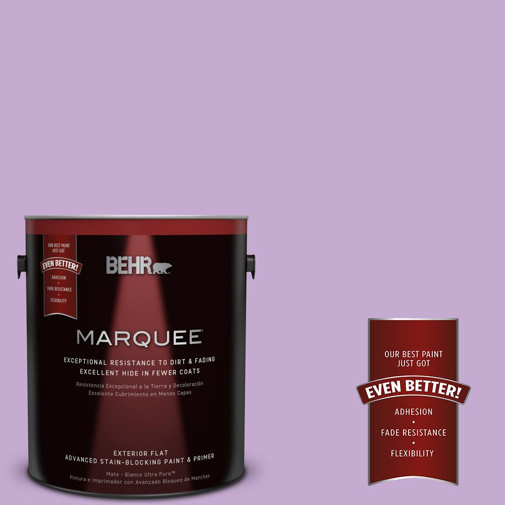 1-gal. #660B-4 Pale Orchid Flat Exterior Paint