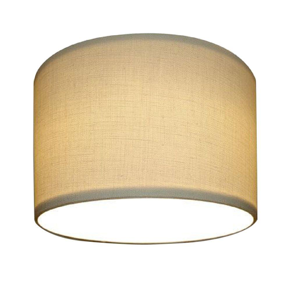 Home Decorators Collection 7 in. Recessed Beige Linen Lighting Can