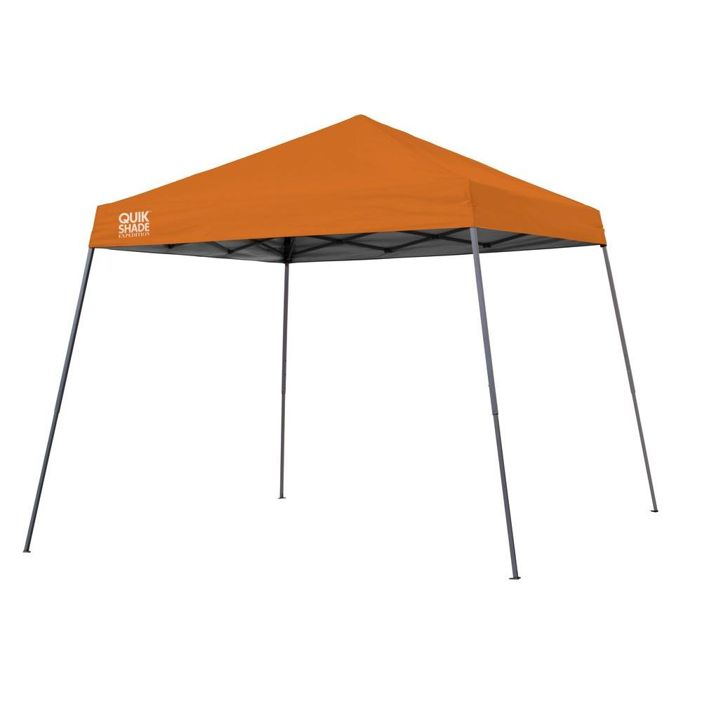 Quik Shade Expedition Team Colors 10 ft. x 10 ft. Slant Leg Instant Canopy in Orange