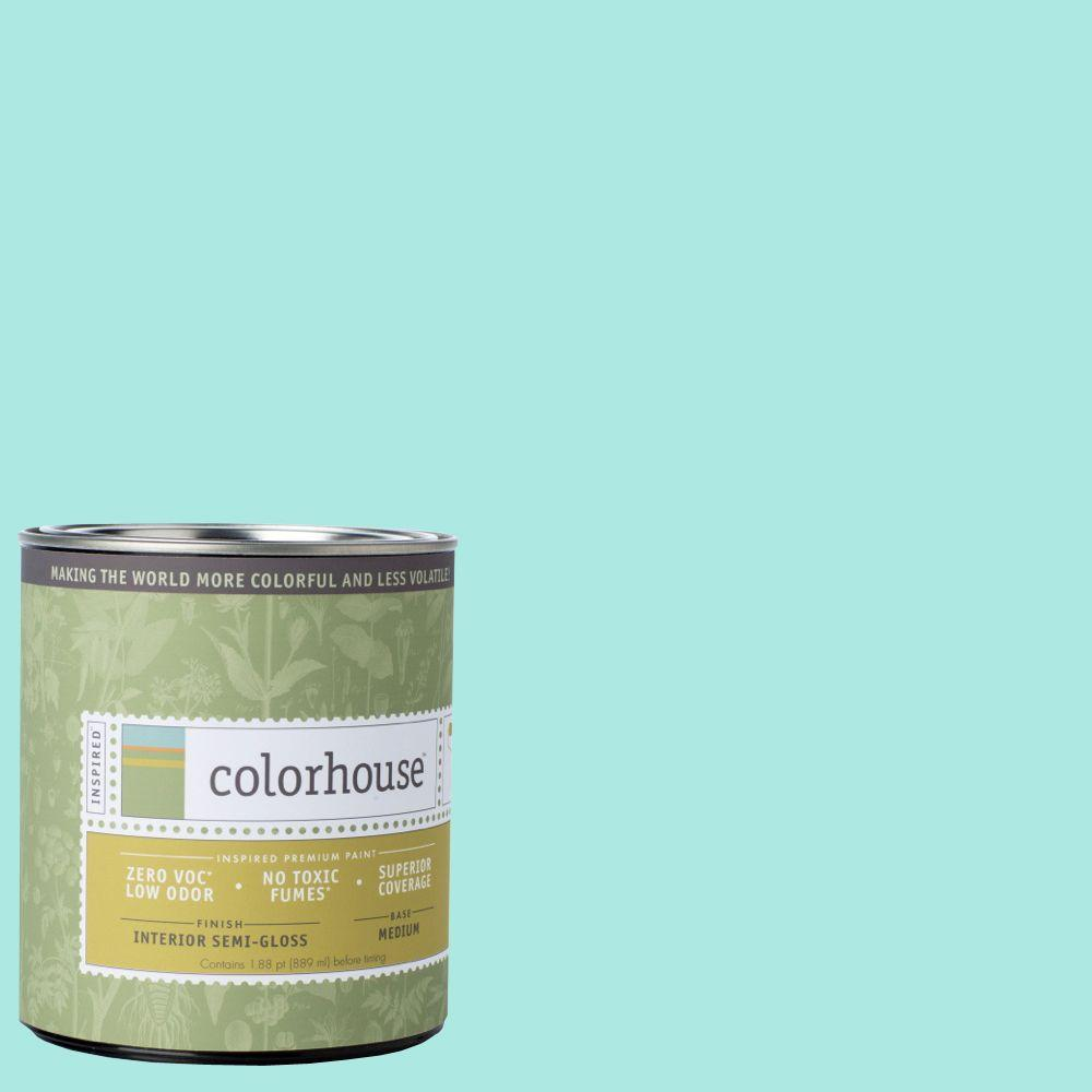 Colorhouse 1-qt. Sprout .01 Semi-Gloss Interior Paint-673119 - The Home Depot