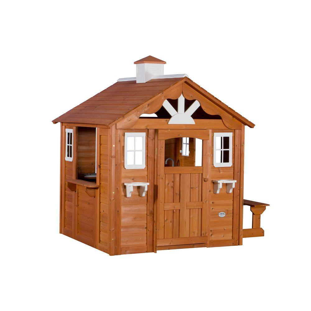 Backyard Discovery Summer Cottage All Cedar Playhouse-6613com - The Home Depot