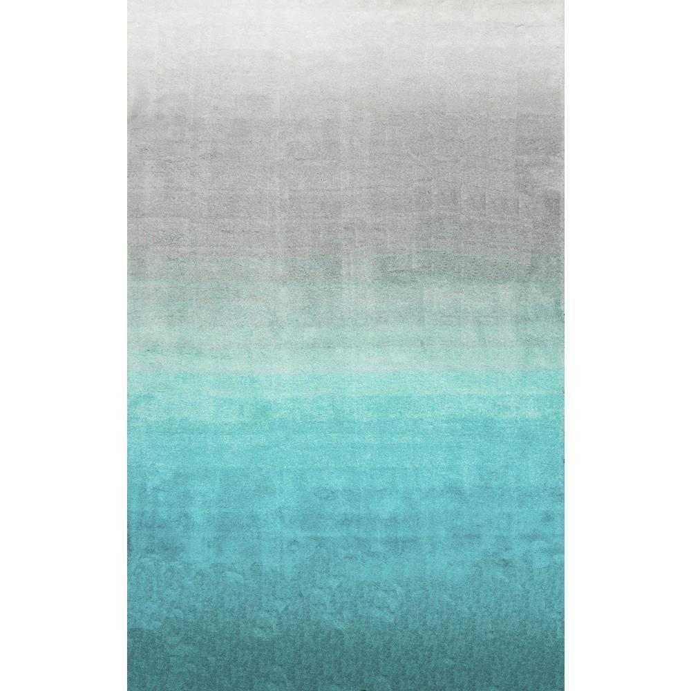 nuLOOM Ombre Shag Turquoise 8 ft. x 10 ft. Area Rug ...