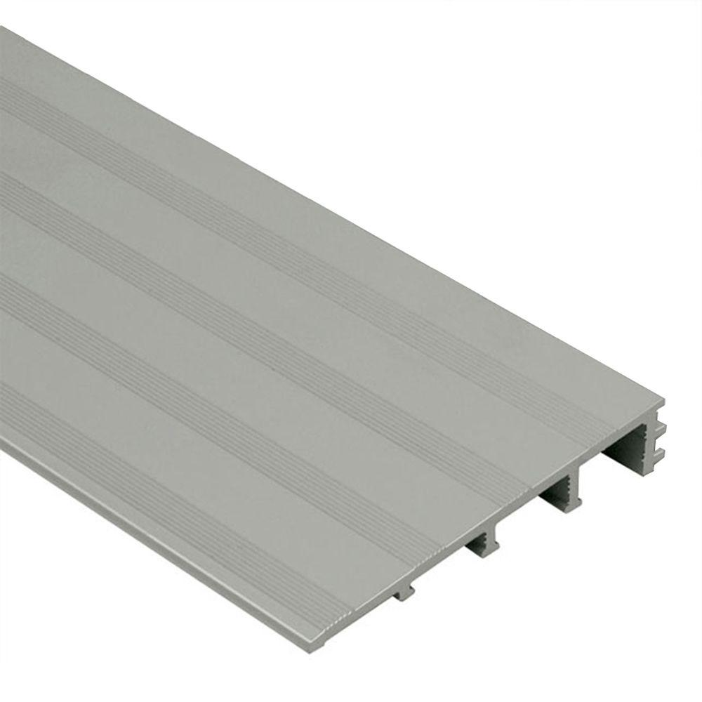 Schluter Reno-Ramp-K Satin Anodized Aluminum 1/2 in. x 8 ft. 2-1/2