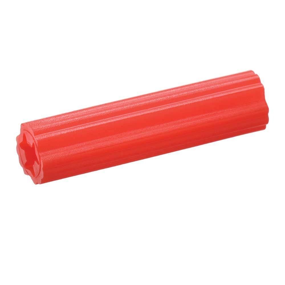 Crown Bolt #7-9 tpi x 1 in. Red Plastic Plug-10419 -