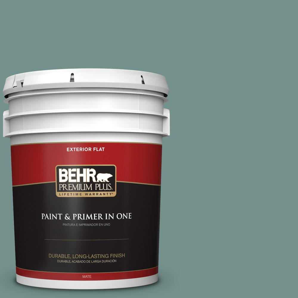 5 gal. #PPU12-03 Dragonfly Flat Exterior Paint