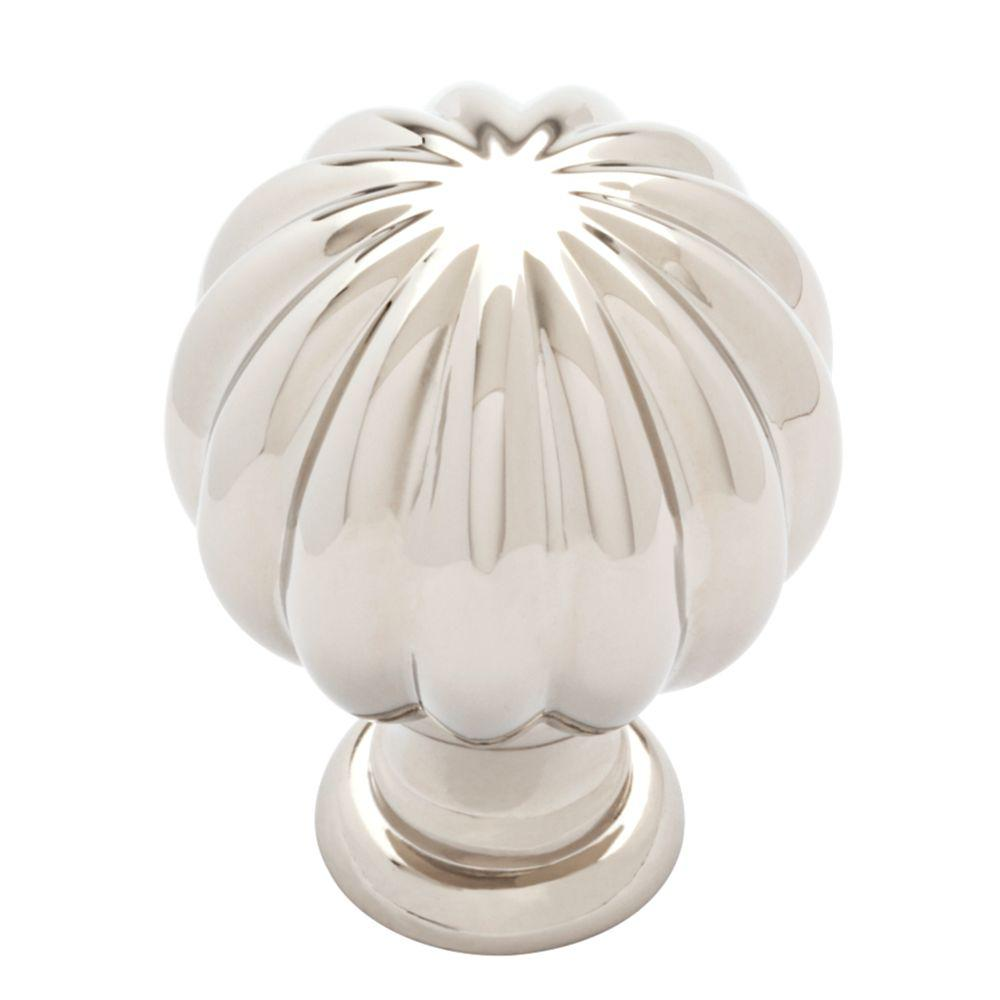 Fluted Classic 1-3/16 in. Polished Nickel Cabinet Knob