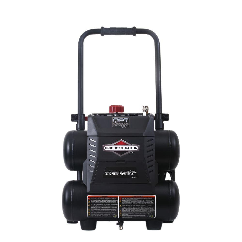 4.5 Gal. Portable Electric-Powered Quiet Power Technology Air Compressor
