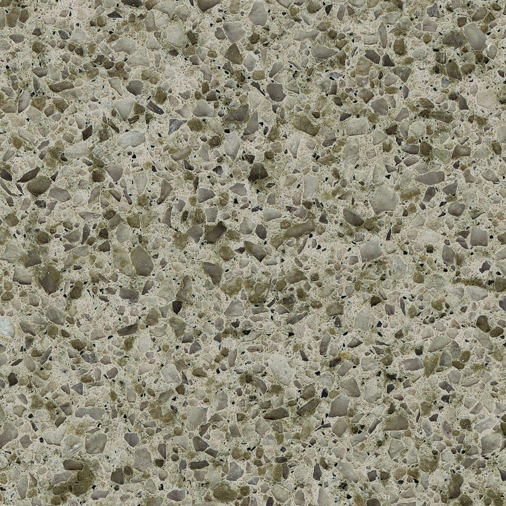 Solieque 4 in. x 4 in. Natural Quartz Vanity Finish Sample in Olive Grove-DISCONTINUED