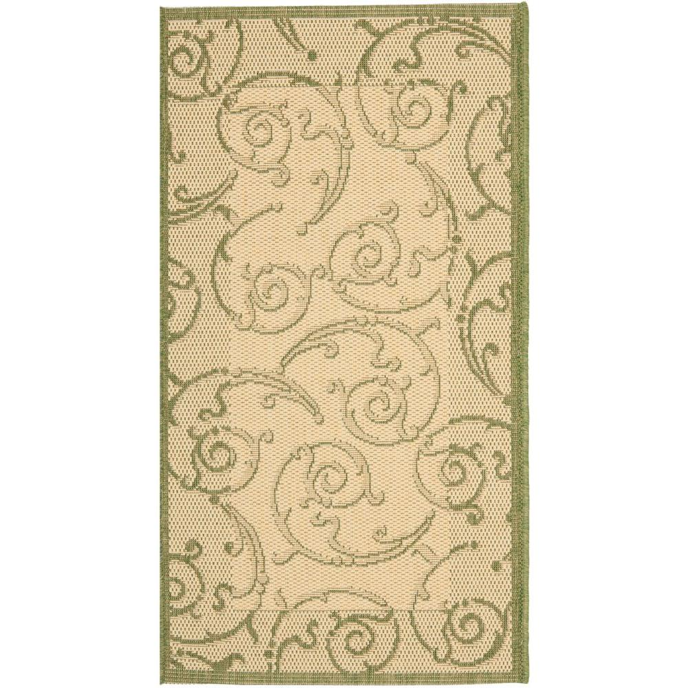 Courtyard Natural/Olive (Natural/Green) 2 ft. 7 in. x 5 ft. Indoor/Outdoor Area Rug Sale $32.96 SKU: 205199459 ID: CY2665-1E01-3 UPC: 683726285489 :