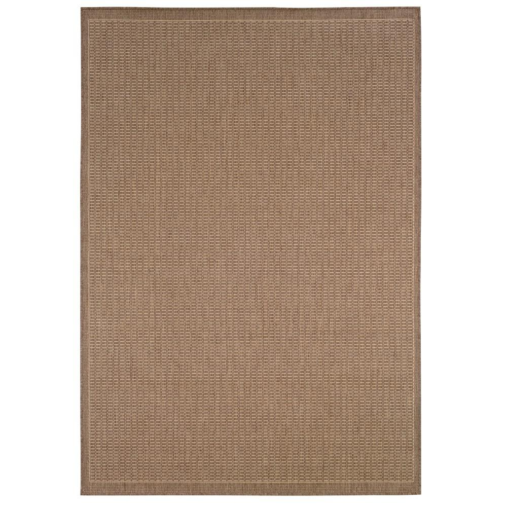 Home Decorators Collection Saddlestitch Cocoa/Natural 3 ft. 9 in. x 5 ft. 5 in. Area Rug