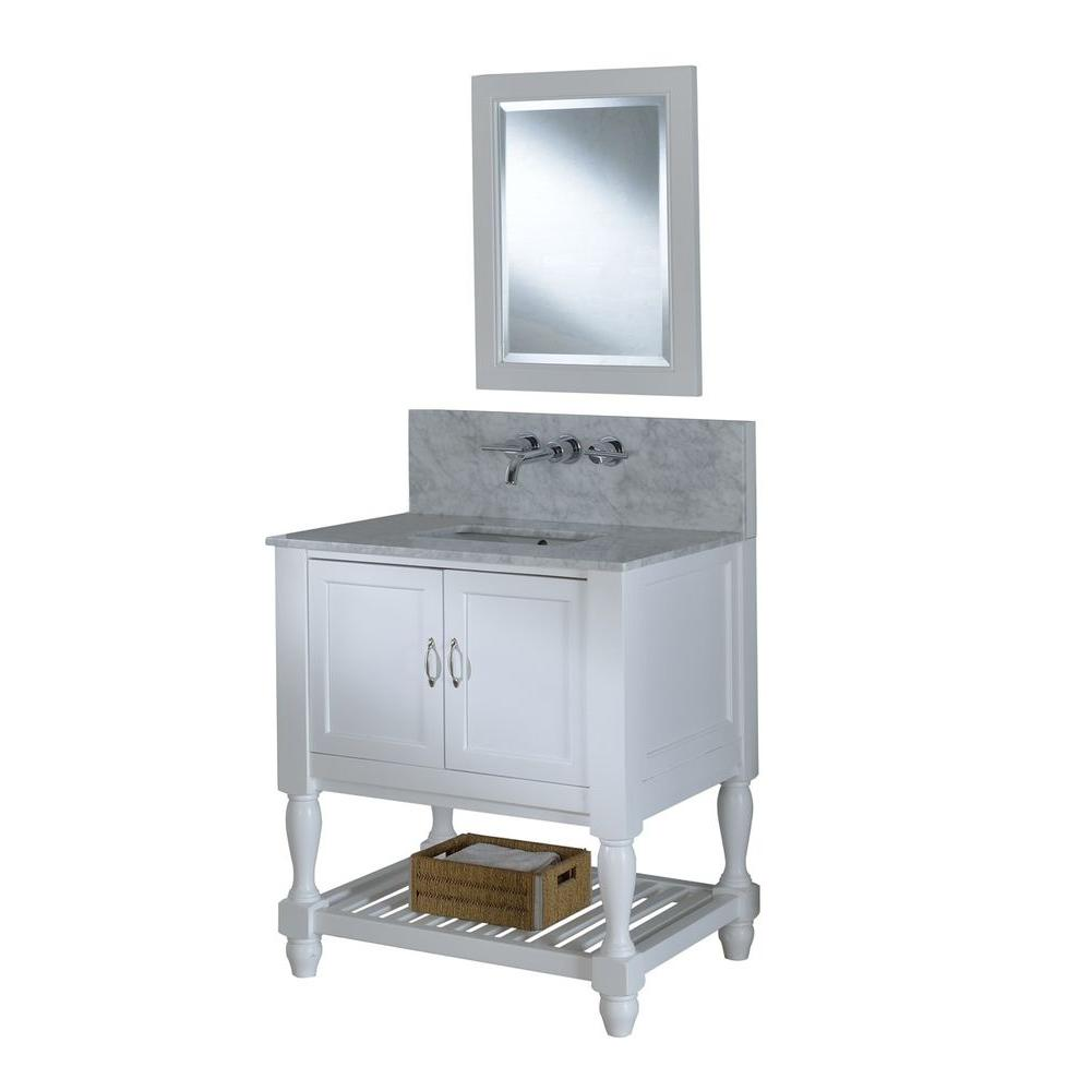 Mission Turnleg Spa Premium 32 in. Vanity in Pearl White with