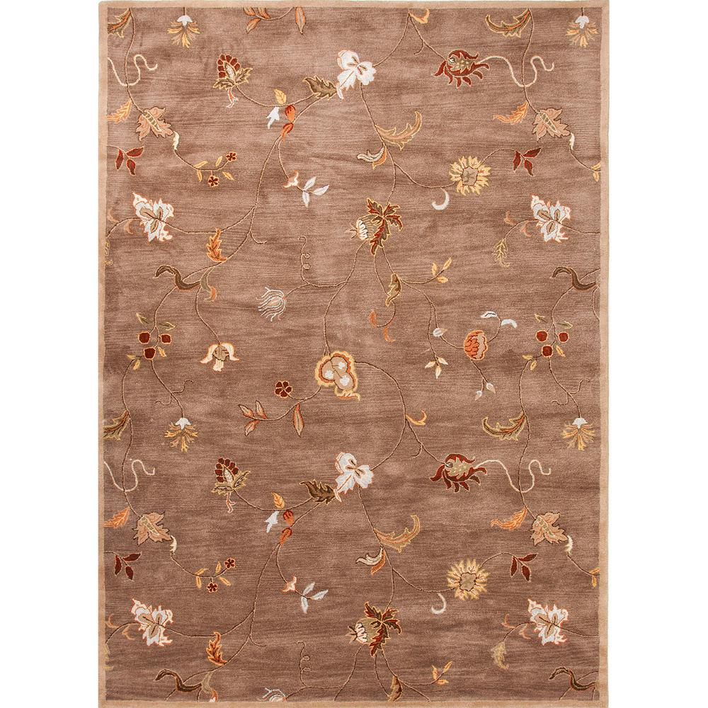 Hand-Tufted Brindle 5 ft. x 8 ft. Floral Area Rug