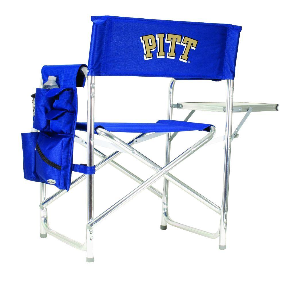University of Pittsburgh Navy Sports Chair with Digital Logo