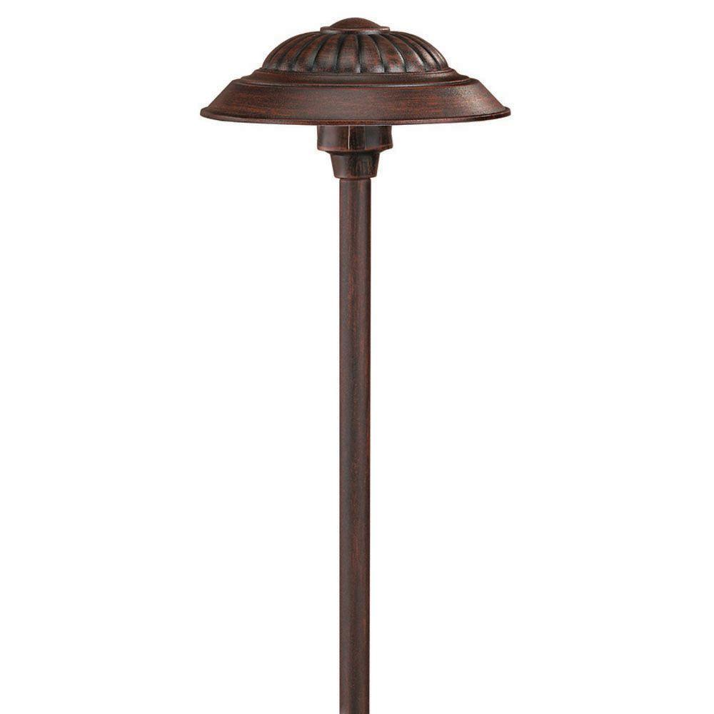 Low-Voltage 12-Watt Southern Clay Saucer Path Light