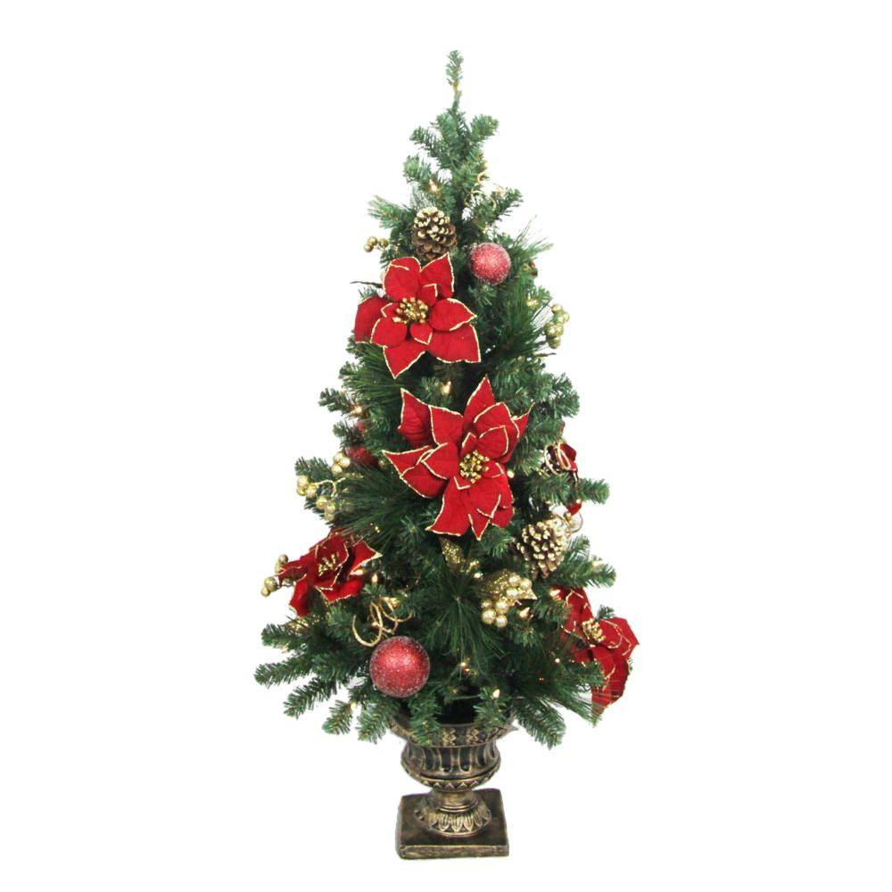 Holiday Entryway - Pre-Lit Christmas Trees - Artificial Christmas ...