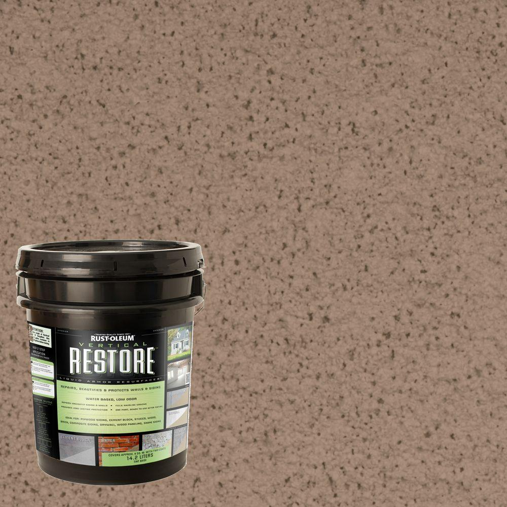 Rust-Oleum Restore 4-gal. Camel Vertical Liquid Armor Resurfacer for Walls and
