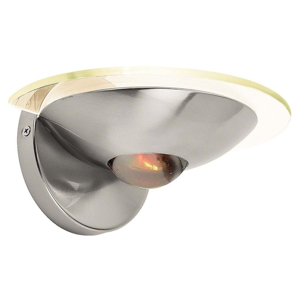 Access Lighting 1-Light Wall Sconce Brushed Steel Finish  Amber Glass-DISCONTINUED