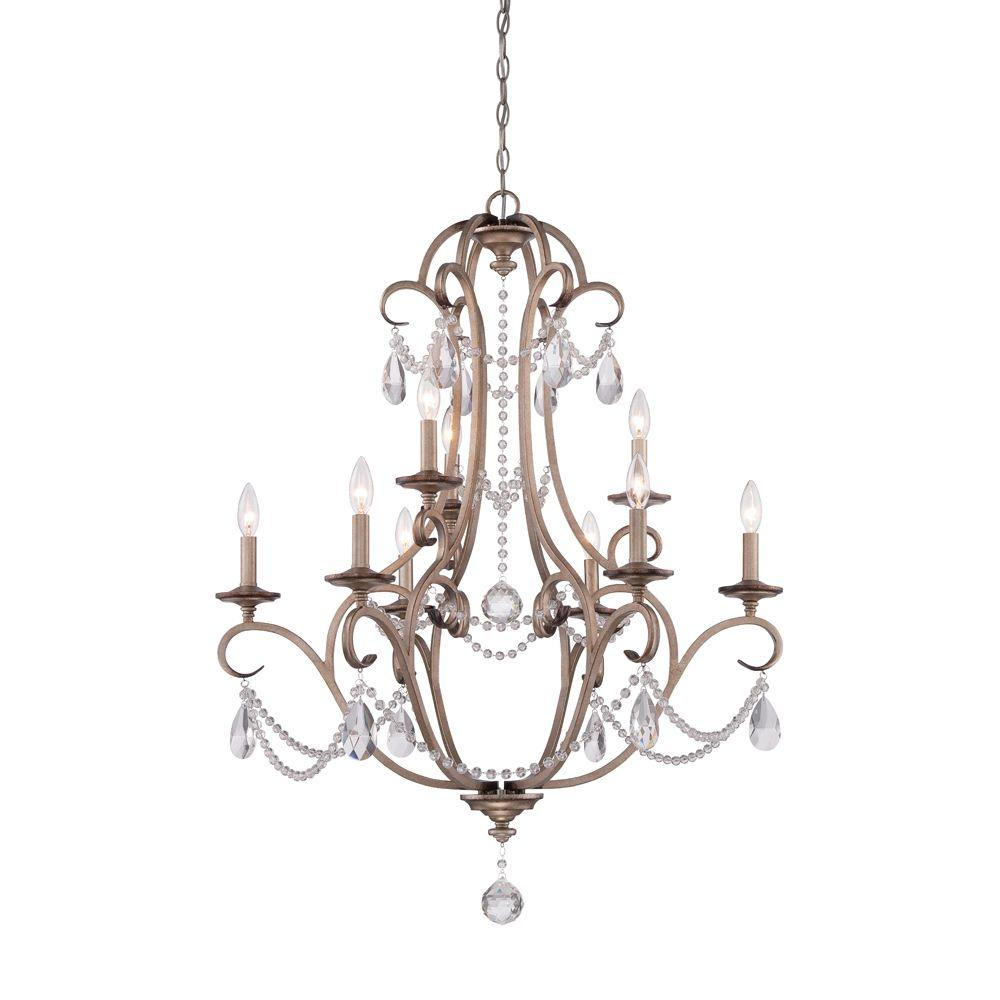 Designers Fountain Gala 9-Light Argent Silver Interior Incandescent Chandelier