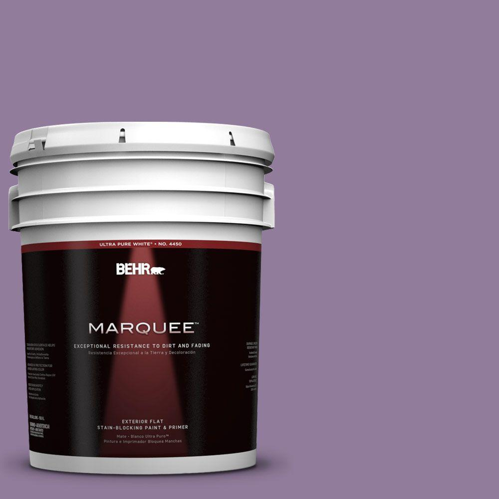 BEHR MARQUEE 5-gal. #660D-5 Wildflower Flat Exterior Paint