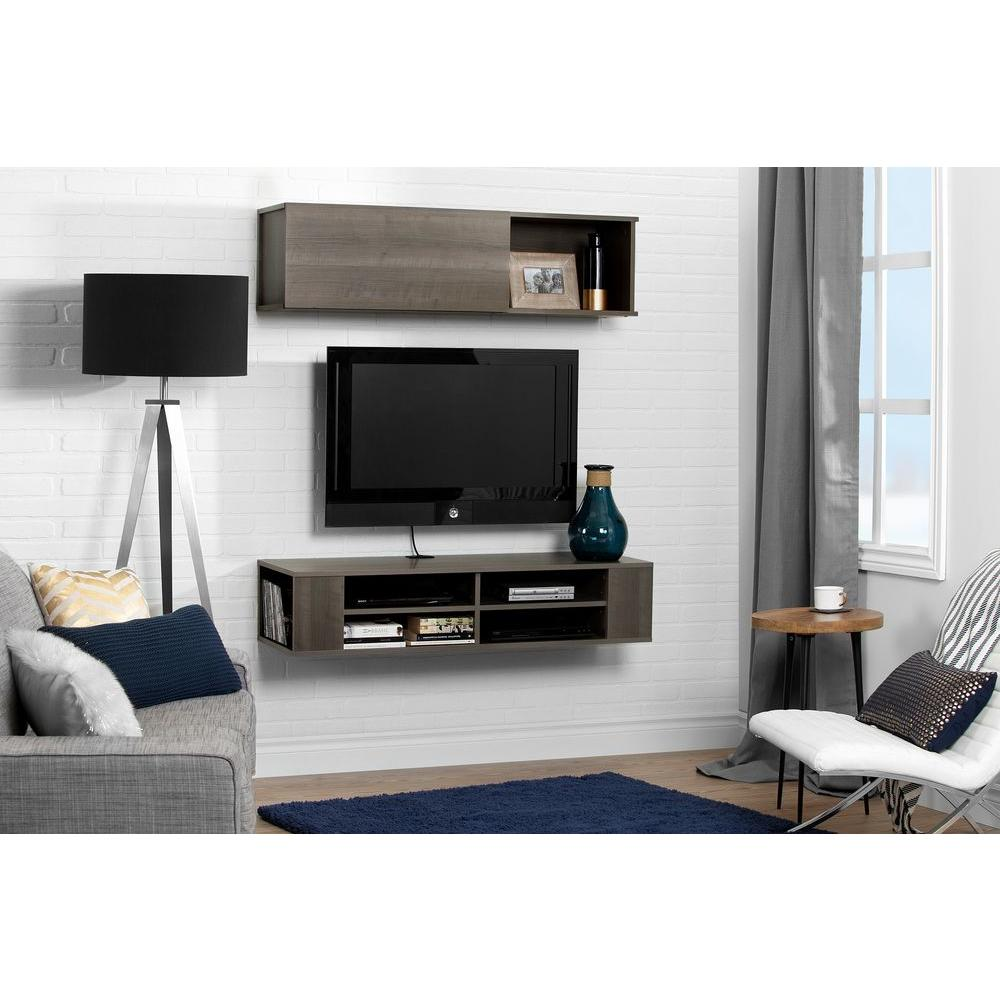 City Life Gray Maple Media Storage