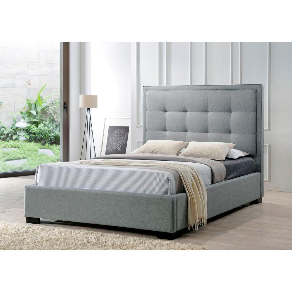 montecito gray king upholstered bed