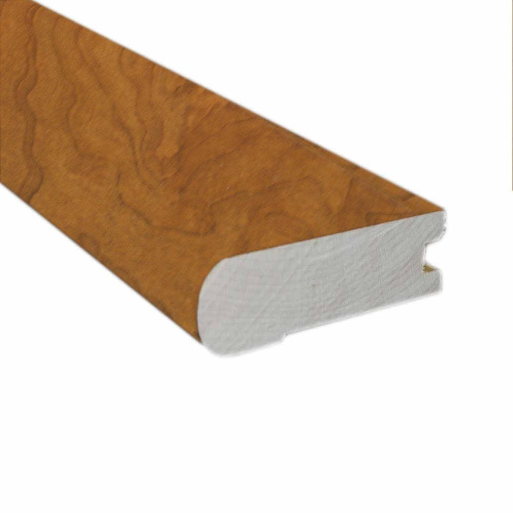 null American Cherry Natural 1/2 in. Thick x 2-3/4 in. Wide x 78 in. Length Hardwood Flush-Mount Stair Nose Molding
