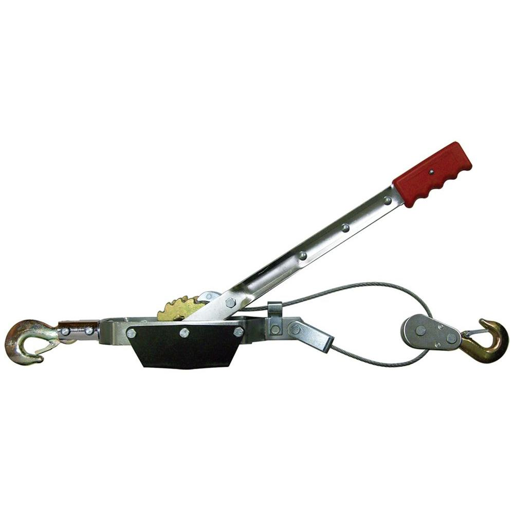 Big Red 2 Ton Come Along Cable Puller With 2 Hooks Tr8021