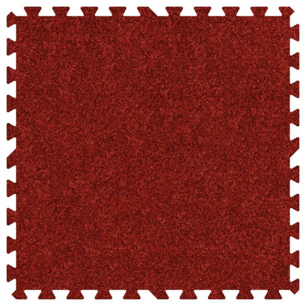 Red 24 in. x 24 in. Comfortable Carpet Mat (100 sq. ft. / Case)