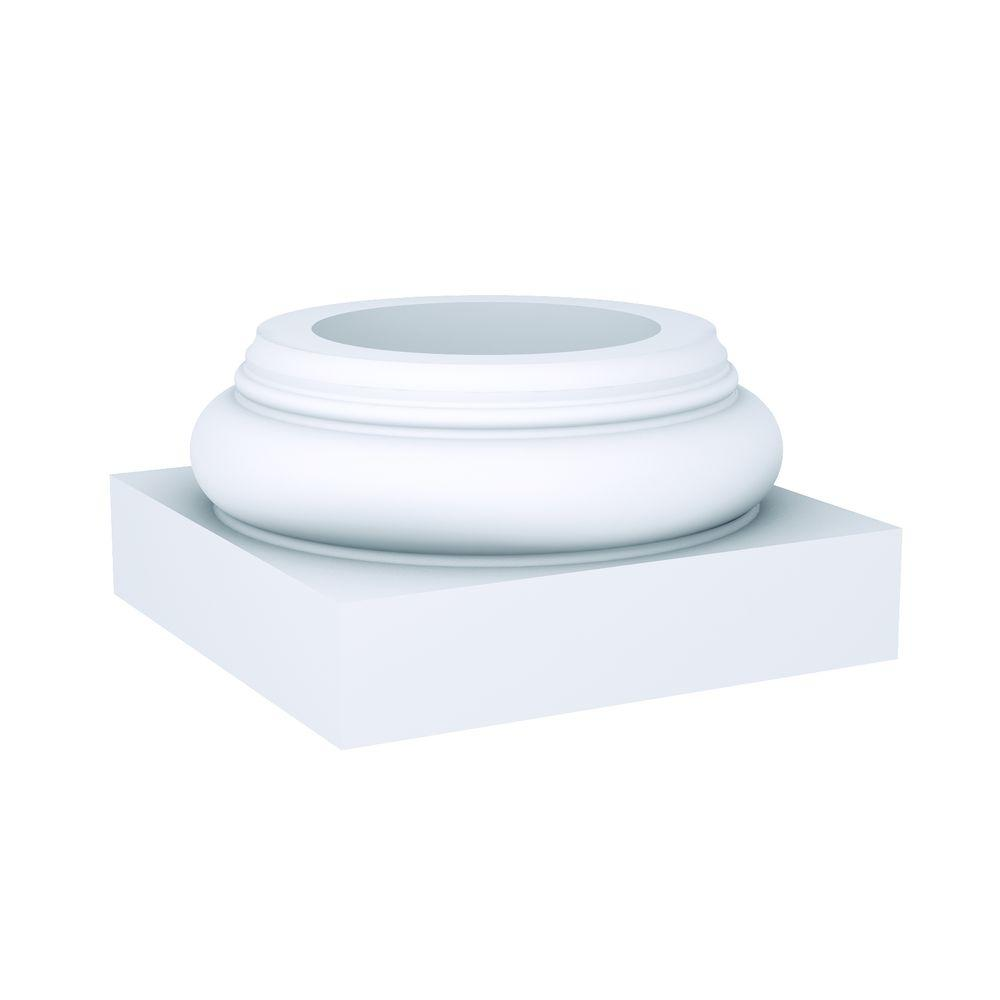 Fypon 13 In X 6 3 4 In Polyurethane Doric Column Base Db